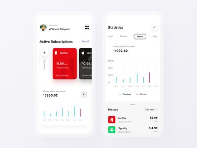 Subscription App subscriptions stats subscription itunes apple netflix ux application uxdesign uiux mobile ui design mobile app app design uidesign ui