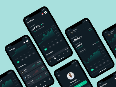 Crypto Trading App mobile app design crypto wallet fintech fintech app trading cryptocurrency crypto application design app design uxdesign ux uiux uidesign ui mobile app mobile ui