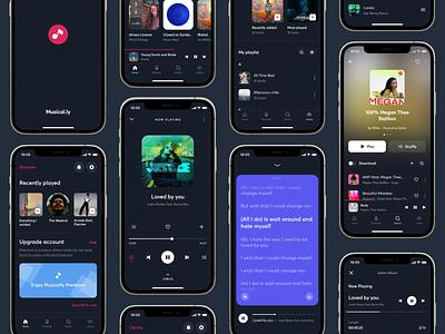 Music App Design designer designer portfolio mobile ui musixmatch apple music spotify artiste musician music music player music art music app app design uxdesign ux uidesign ui
