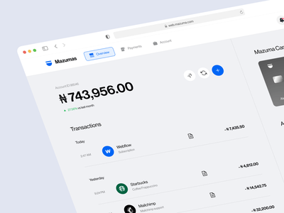 Mazuma - Digital Banking Web app fintech loan finance application credit bank neobank banking finances financial finance app banking dashboard dashboard mobile app web app ux ui