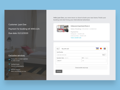 DailyUI 002  Checkout booking app ux ui checkout page checkout black  white co-living booking system minimal design daily 100 challenge daily ui dailyui
