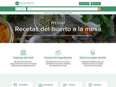 PH Chef Design Proposal recipe ux ui ecommerce eco green minimal design