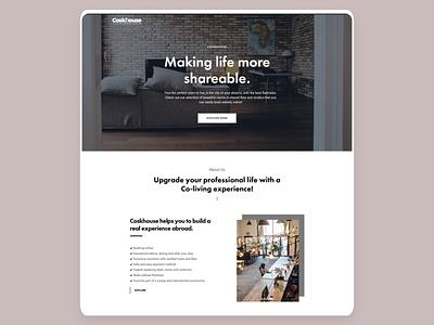 Coskhouse Co-Living co-working co-living minimal black  white design wordpress design wordpress