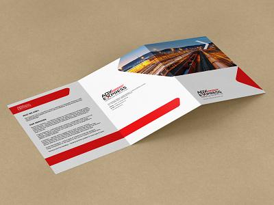 World Railway Map leaflet - 2021 trifold branding leaflet
