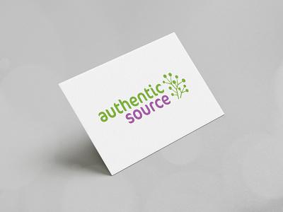Authentic Source branding design brand identity modern corporate business logo