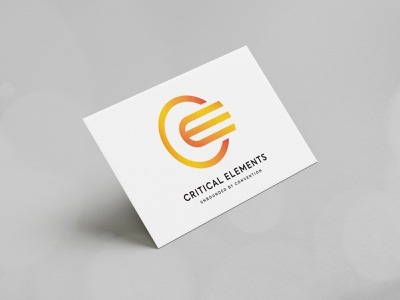 Critical Elements branding design brand identity modern corporate business logo