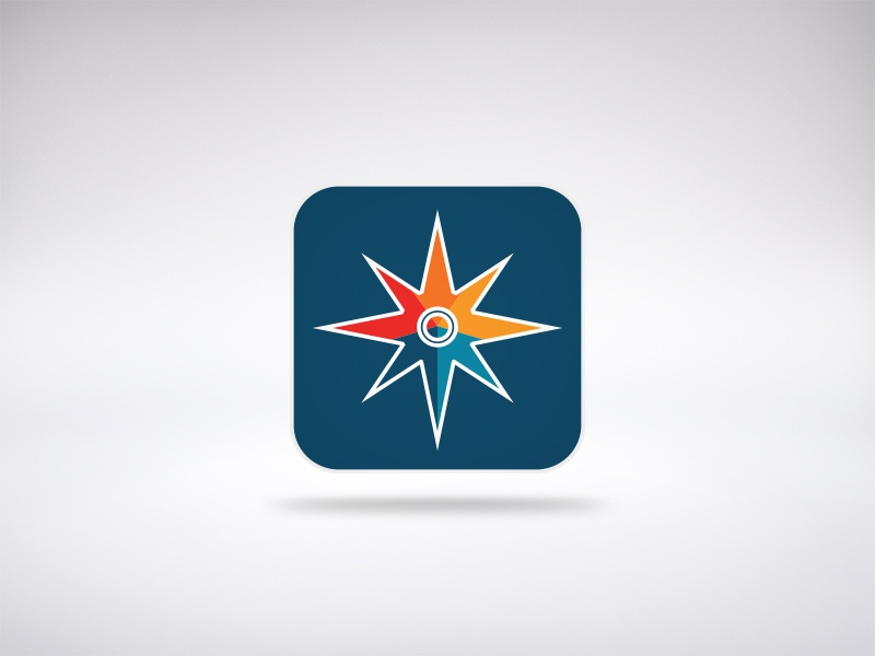 Icon Compass App venti colorful rosa ios rose icon app iphone mobile wind