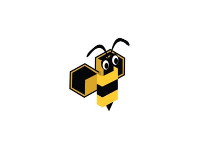 Nubee Illustrator  bee nubee logo proposal iso isometric ape