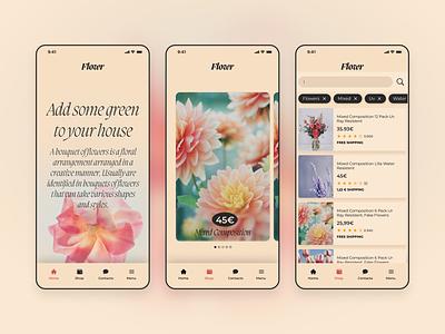 Flowr mobile figma minimal design