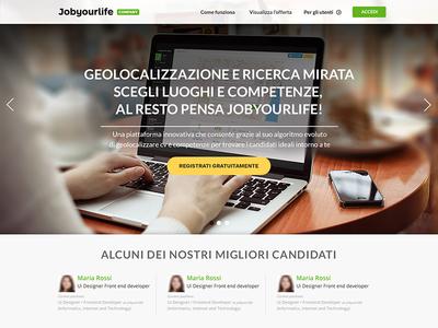 Jyl Company Ui Landing  webdesign landing jyl jobyourlife