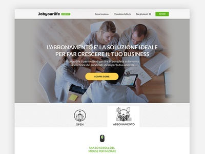 Jyl company subscription landing landing onepage design develop iconset jobyourlife