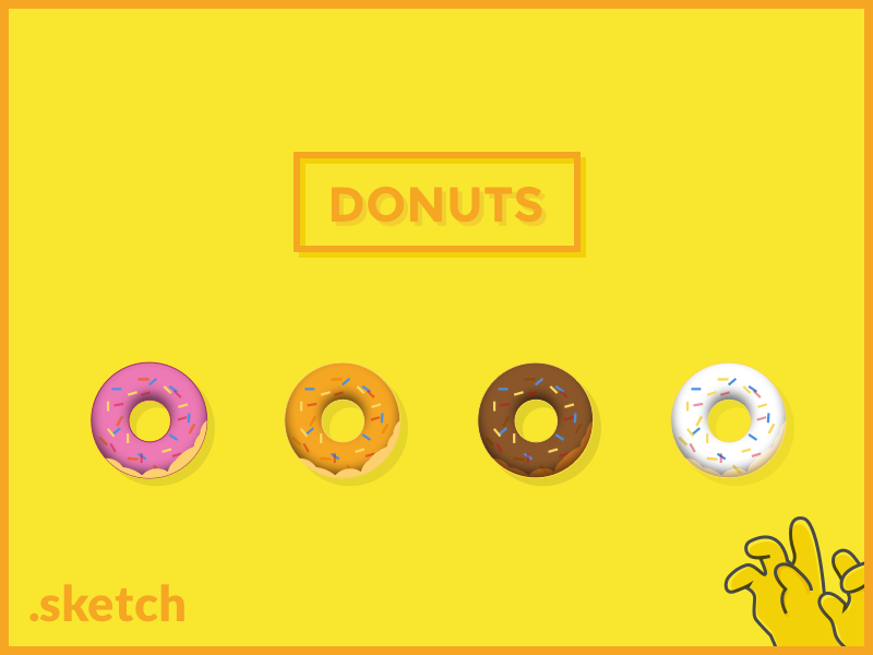 Donuts icons source free icon experiment donut homer donuts ciambelle sketch