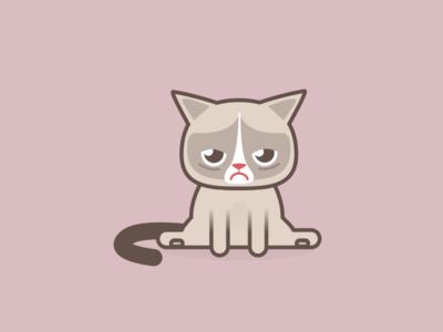 Rompy Cat sketch illustration icona gatto cats icon grumpy cat