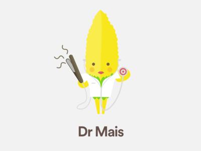 Dr Mais sketchapp medical dr piastra caracter mais