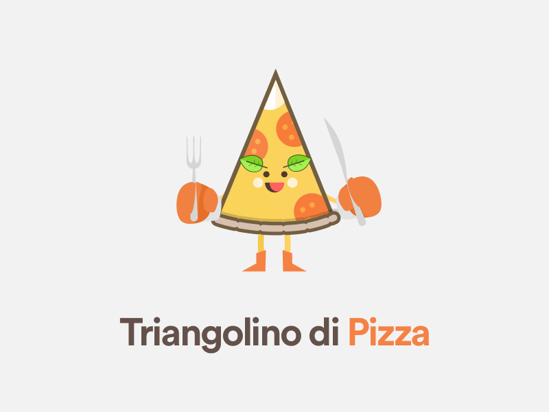 Triangolino di Pizza stickermule triangolino triangolo triangulate pizza sketchapp caracter