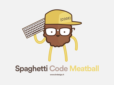 Spaghetti code meatball coding rapper meat pasta code spaghetti rap meatball