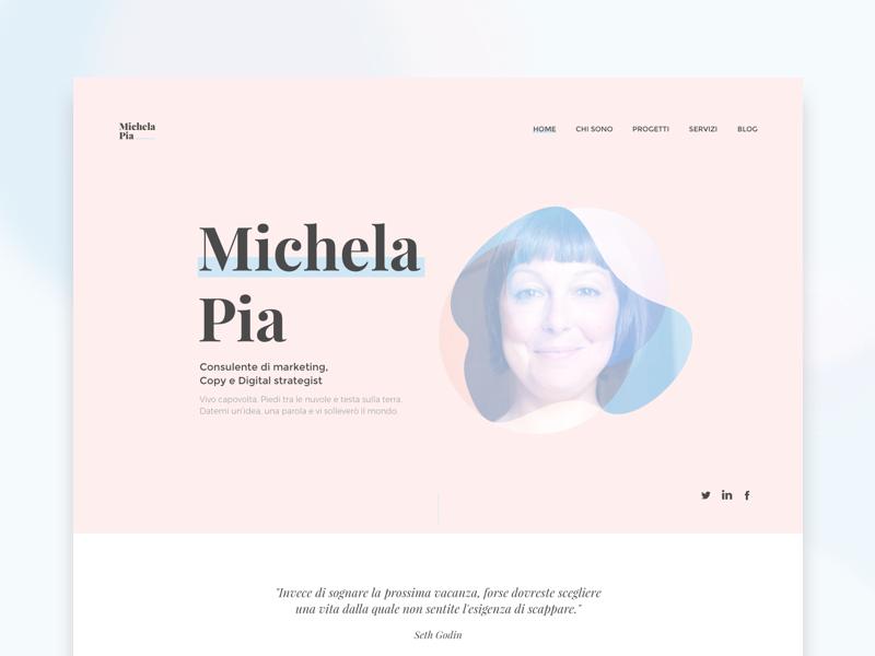 Michelapia.com - Website gsap sketchapp frontend design