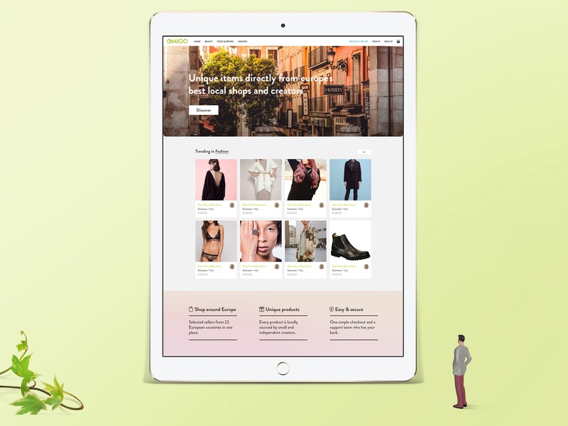 Web Design Presentation visual indentity branding diorama presentation concept ipad web design