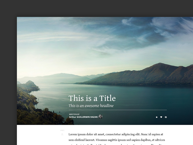 [FREEBIE] Medium like Template PSD freebie ui free psd layout template medium