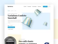 Nespresso Homepage Redesign