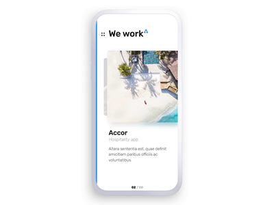 Adfab Projects Coverflow coverflow cover slideshow case study mobile principle animation swipe ui project cards