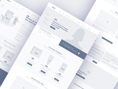 Hair Removal Website Wireframe