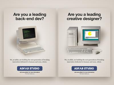 Adfab x Bandersnatch Recruiting campaign 🚀 recruit studio agency bandersnatch black mirror print ads poster print