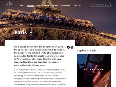 World's best bars - Destination page parallax