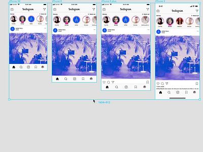 [FREEBIE] Instagram 📱 App Responsive Mockup UI iphone app photo template instagram responsive ui figma free freebie mockup