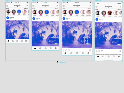 [FREEBIE] Instagram 📱 App Responsive Mockup UI