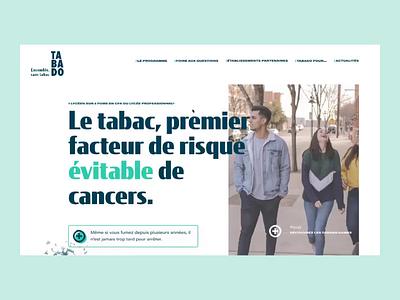 Tabado - Homepage principle figma images visual uiux landing motion animation desktop ui homepage