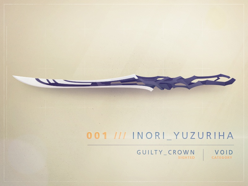 Guilty Crown anime guilty crown void sword epic armoury armoury illustration weapon fantasy free