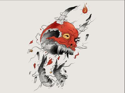 314 Oni Skull