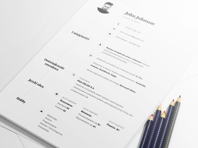 Resume  print design michal korwin flyer cv resume print