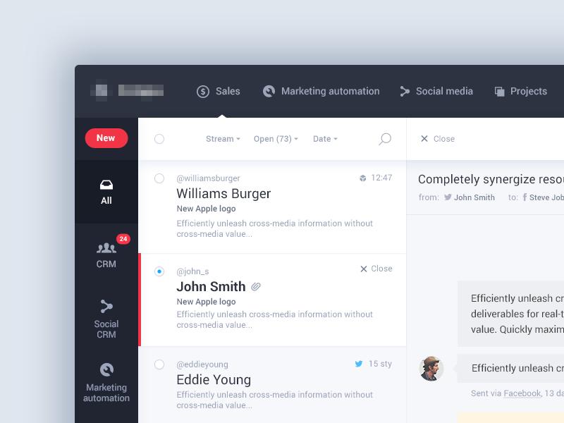 Pipeline UI - Inbox dailyui flat material ios app interface dashboard inbox ux ui