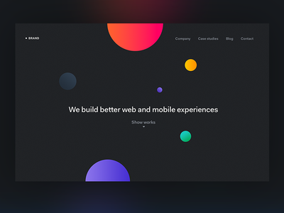 Digital Agency Homepage landing page brand colors typography uxpin web webdesign