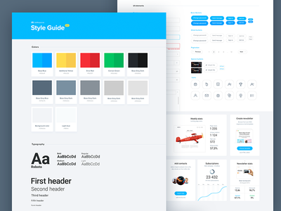 UI Style Guide typography colors sheet stylesheet guide style stylguide webdesign web ux ui