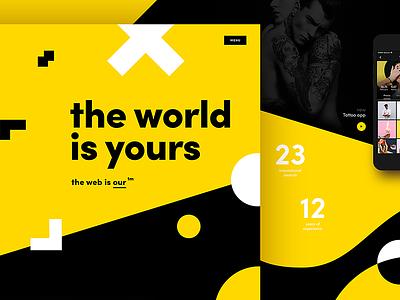 the world is yours 🌎 colors designer shapes shape portfolio webdesign web