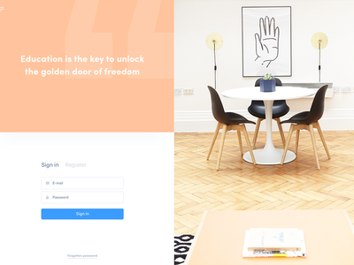 Private lessons app ✍🏻 ux ui landing page shapes shape mobile agency homepage webdesign web