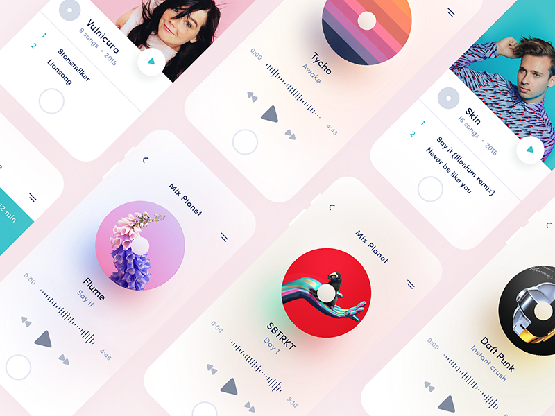 Mix Planet 🎧 (sketch freebie) player sketch freebie music ios app ios app ux ui