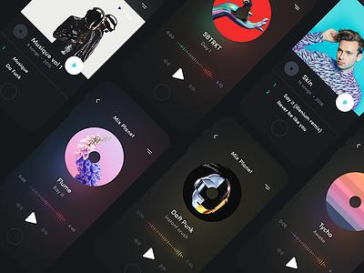 Mix Planet: Night Mode 🌗 ui ux app ios ios app music freebie sketch