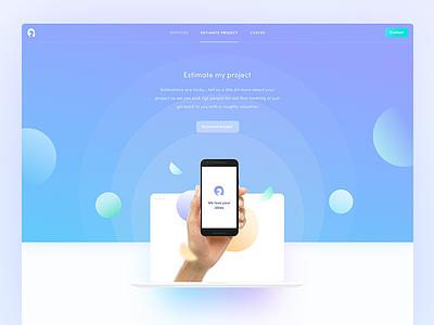 Estimate my project 💸 web webdesign homepage agency mobile shape shapes landing page ui ux