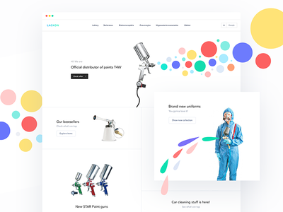 Paint shop homepage 🎨 ux ui landing page shapes shape mobile agency homepage webdesign web
