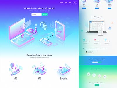 Gradients & illustartions LP ux ui landing page shapes shape mobile agency homepage webdesign web