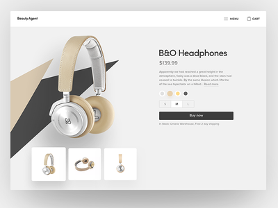 Product page 💵 music landing page shapes korwin headphones product webdesign web