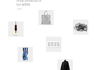 Modern Art Gallery ★ web webdesign landing page ux ui modern art minimalism minimal minimalistic