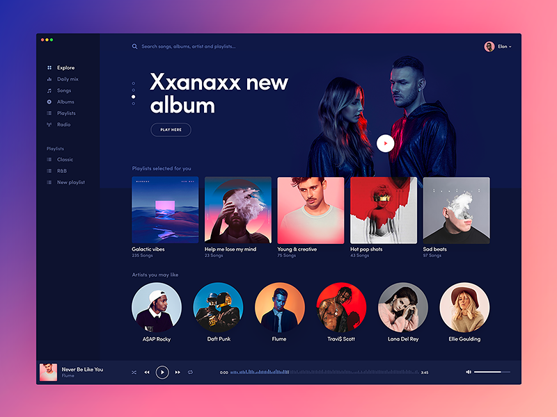 Music player for mac 📁 by Michael Korwin on Dribbble