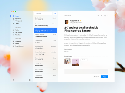 Fluent inspired E-mail app 📭 text messages message mail app fluent