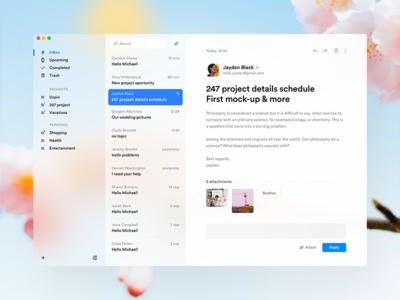 Fluent inspired E-mail app 📭 text messages message mail app fluent