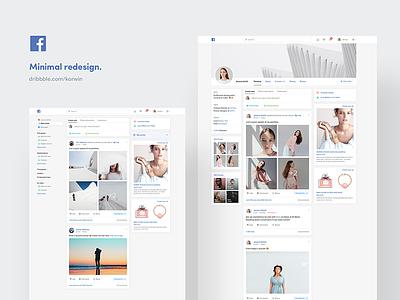 Facebook theme I need 🙏🏻 minimal interface ux ui fb facebook redesign web